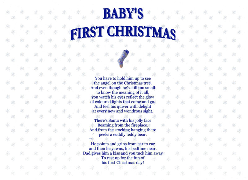 Baby First Christmas Poems And Quotes. QuotesGram