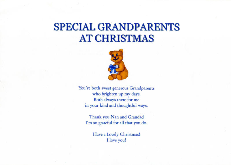 Craftspoems For Grandparents For Christmas | just b.CAUSE
